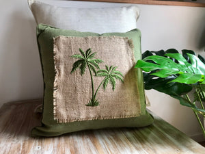 Skylark Palm Tree Pillows - Multiple Colours