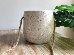 Hanging Eggshell Glaze Ceramic Pot
