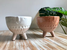 Load image into Gallery viewer, Ceramic Face Standing Pots