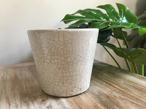 Eggshell Glaze Ceramic Pot