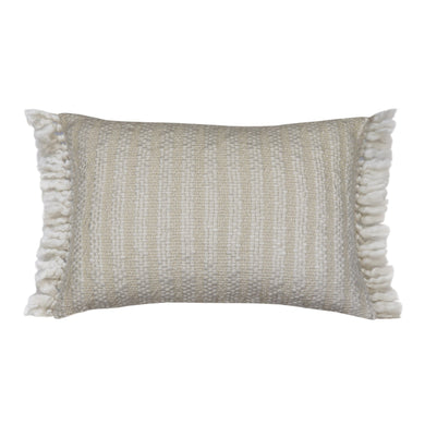White & Natural Cormerant Beach Cushion 40x60cm