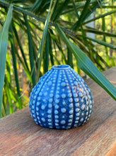Load image into Gallery viewer, Ceramic Blue Sea Urchin vase