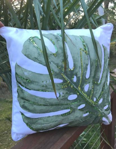 Marloo Monstera Pillow
