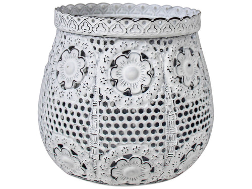Tealight Holder White Daisy