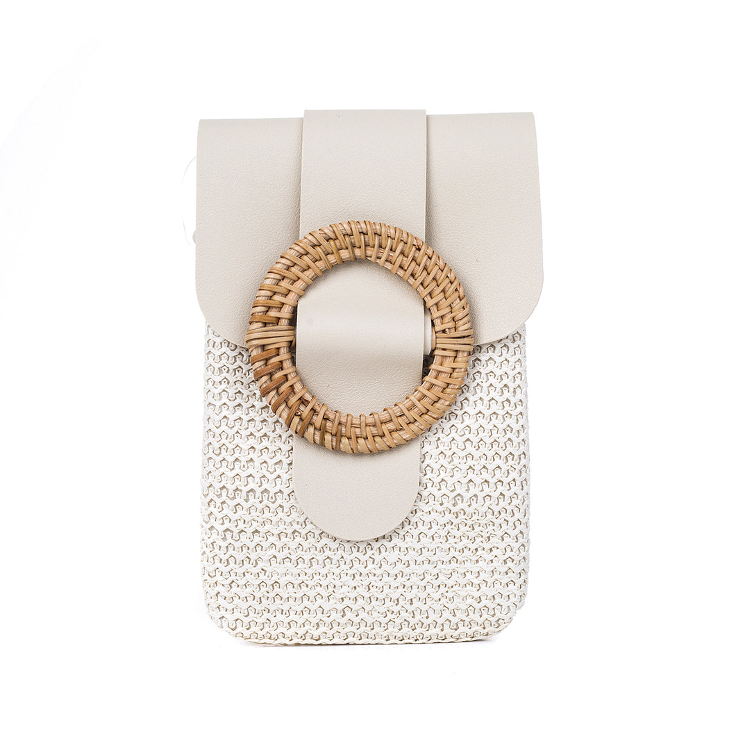 Beige Phone Bag