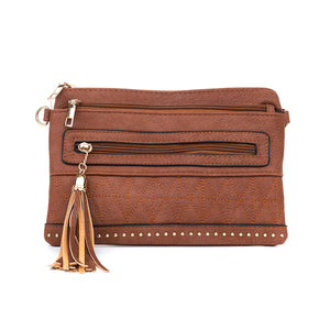 Murramarang Beach Clutch - Caramel