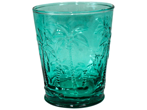 Tumblr Glass Palm - Aqua