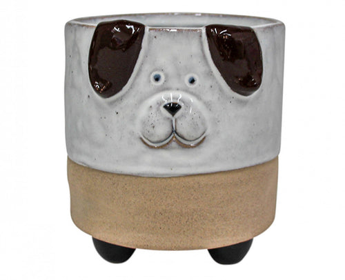 Ceramic Dog Planter