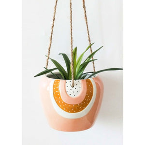 Rainbow Hanging Planter Pink