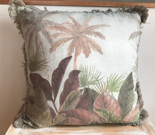 New Leafy Palm Pillow