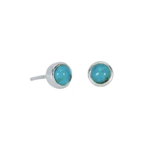 New Nalu Jewels Turquoise Rock Sterling Silver Earrings