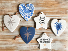 Load image into Gallery viewer, Ceramic Heart & Star Quotes