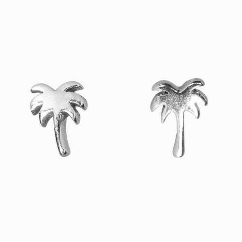 New Nalu Jewels Palm Tree Sterling Silver Earrings