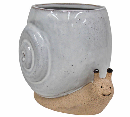 Ceramic Sammy The Snail Planter
