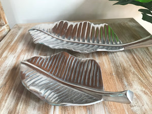 Silver Metal Leaf Trays