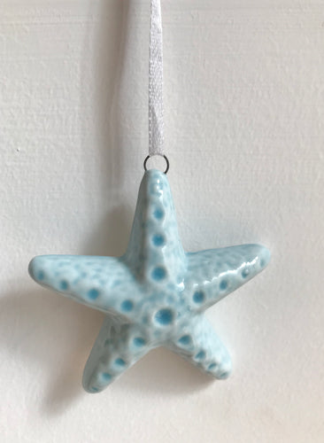 Hanging Ceramic Shells & Starfish