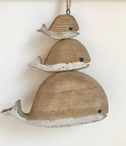 Hanging Wooden whale stack