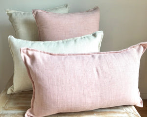 Gannet Beach Linen Pillows - Baby Pink