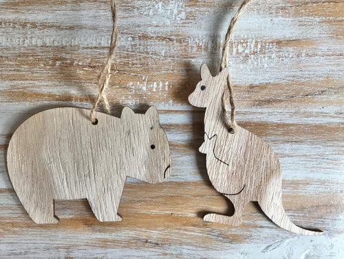 Wooden Australian Animal Hanging Decorations