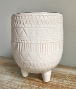 New Mezzi Planter with legs - White Pot