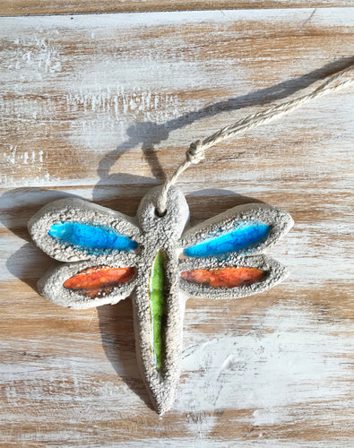 Glazed Pottery - Hanging Dragon Fly