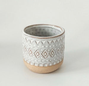 New Small Tan Tribal Planter