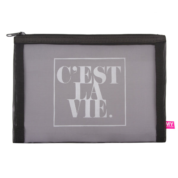 Glamour Mesh Pouch - French Collection - C'est La Vie