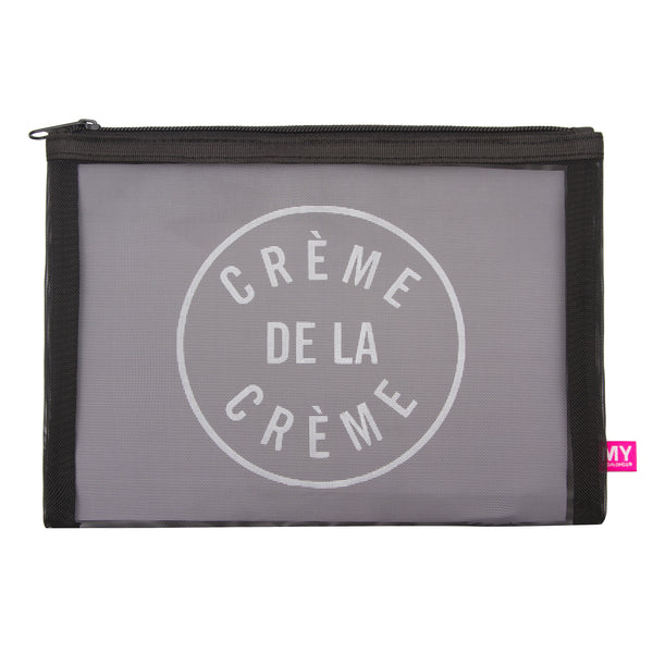 Glamour Mesh Pouch - French Collection (Creme)