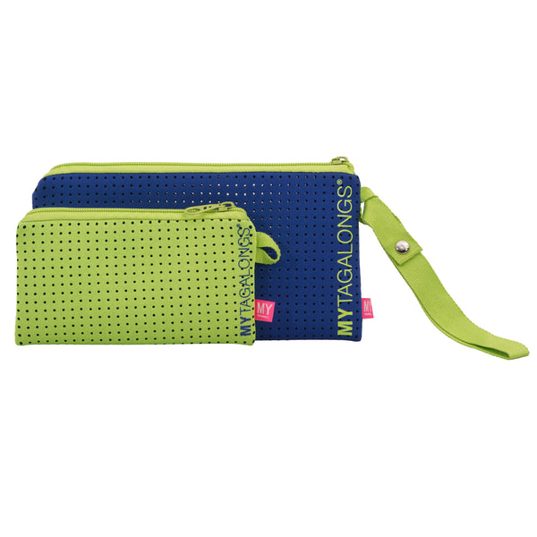 Duo Wristlet Pouch - Endless Summer (Royal / Lime)
