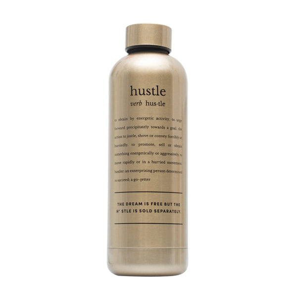 Water bottle - Definition Hustle gold