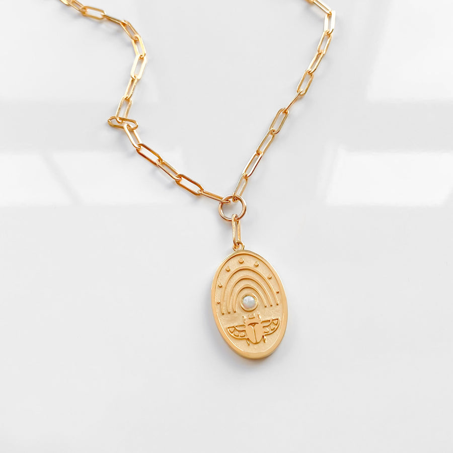 Khepri Link Necklace