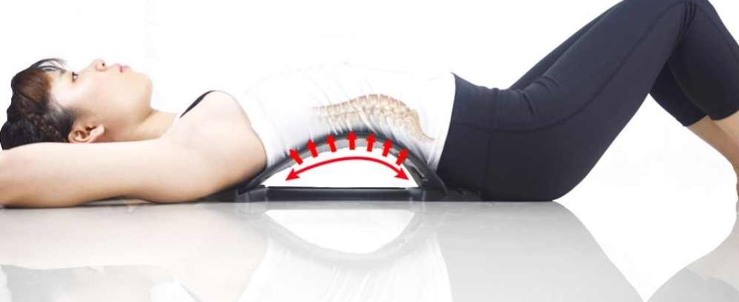 Relieving back pain using back pain stretcher