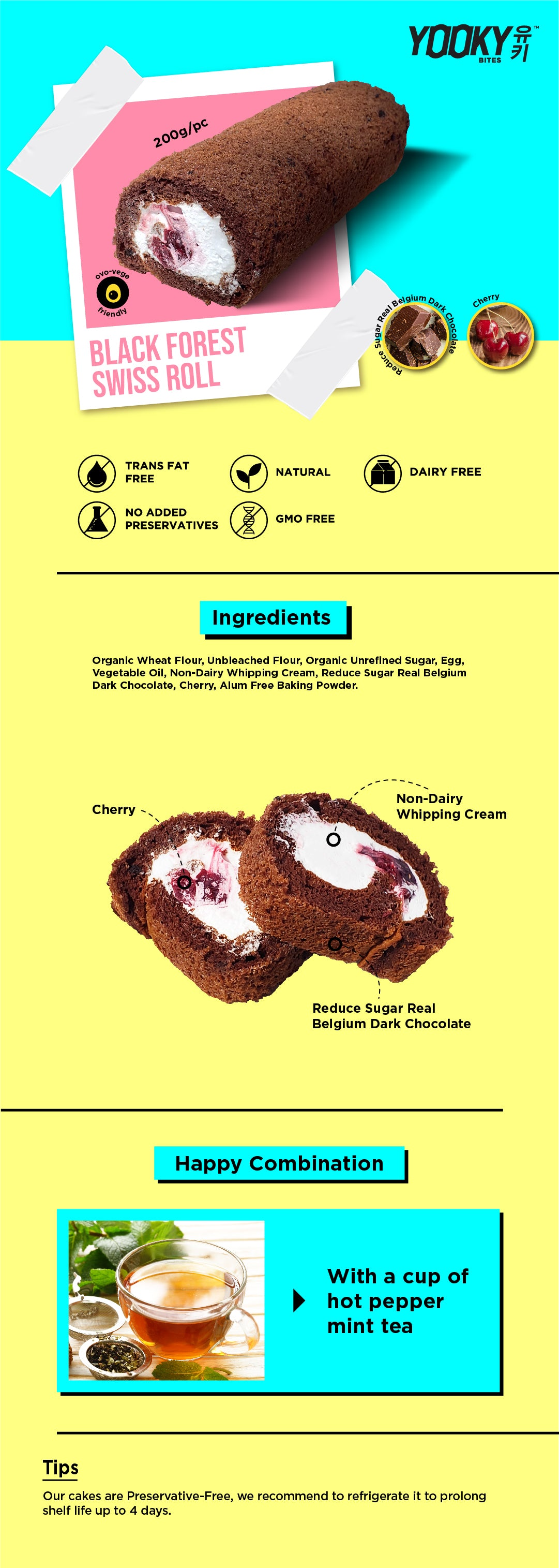 Black Forest Swiss Roll Product Description