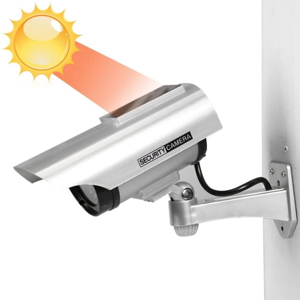 Solar Powered Waterproof Fake Cctv Security Camera Dummy