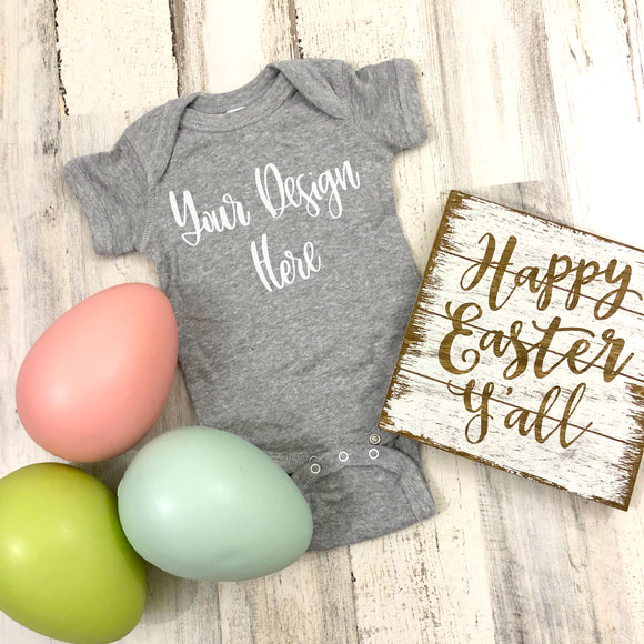 Easter Rabbit Skins 4400 Heather Grey Mockup Photo