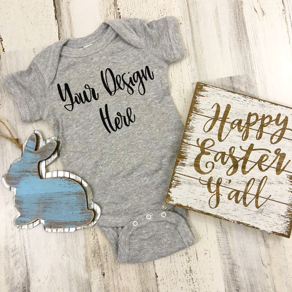 Easter Rabbit Skins 4400 Heather Grey Mockup Photo #4