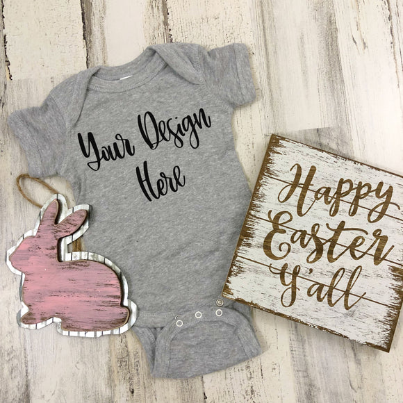 Easter Rabbit Skins 4400 Heather Grey Mockup Photo #3