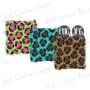 Painted Leopard Background Elements