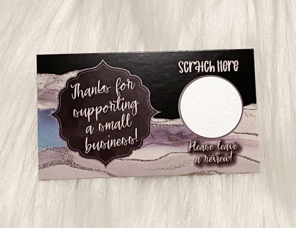 Thank You Cards - Set of 25 - Grey, Silver, Black Agate