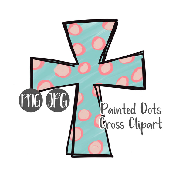 Painted Dots Cross Clipart