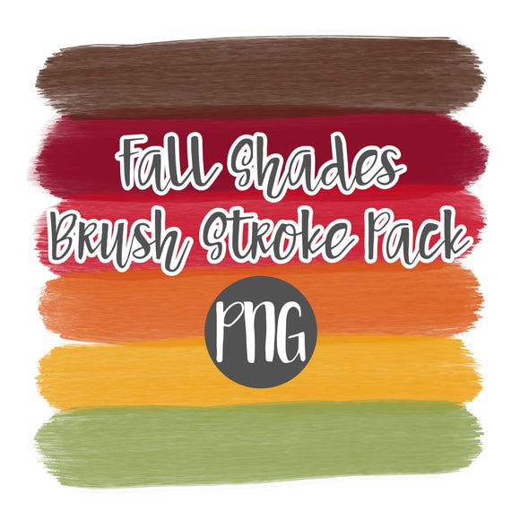 Fall Shades Brush Stoke Clipart Pack
