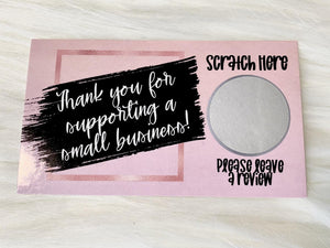 Thank You Cards - Set of 25 - Pink, Black, & Rose