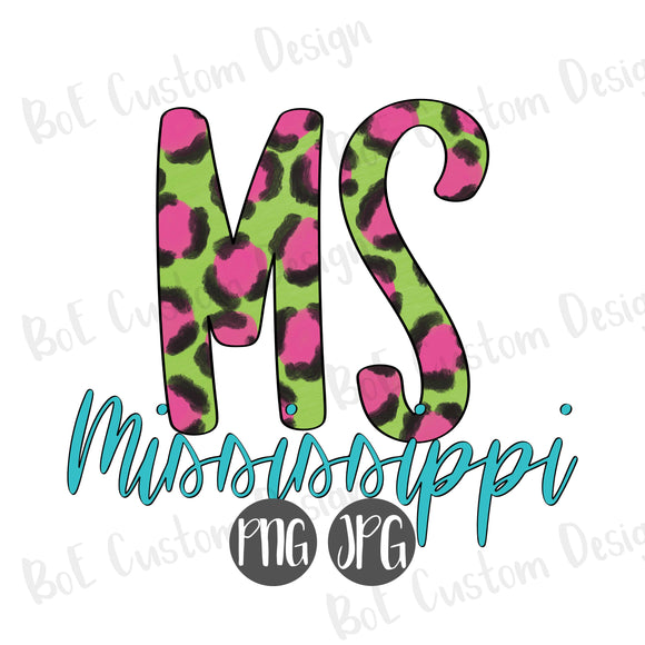 Leopard Mississippi Clipart