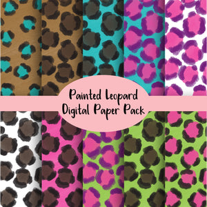 Leopard Inspired Digital Paper Pack