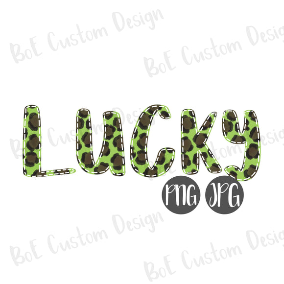 Leopard Lucky St. Patrick's Day Clipart