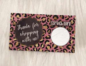 Thank You Cards - Set of 25 - Pink, Black, Gold Leopard