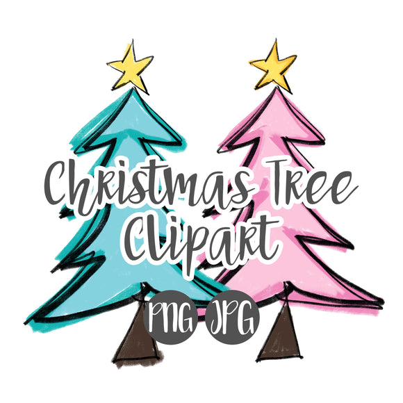 Christmas Tree Clipart Pack