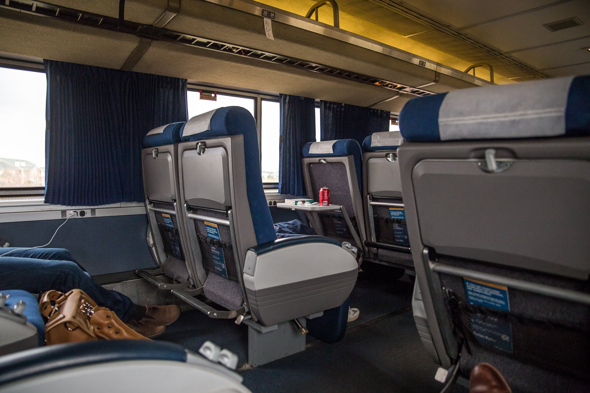 Seating Inside an Amtrak Train