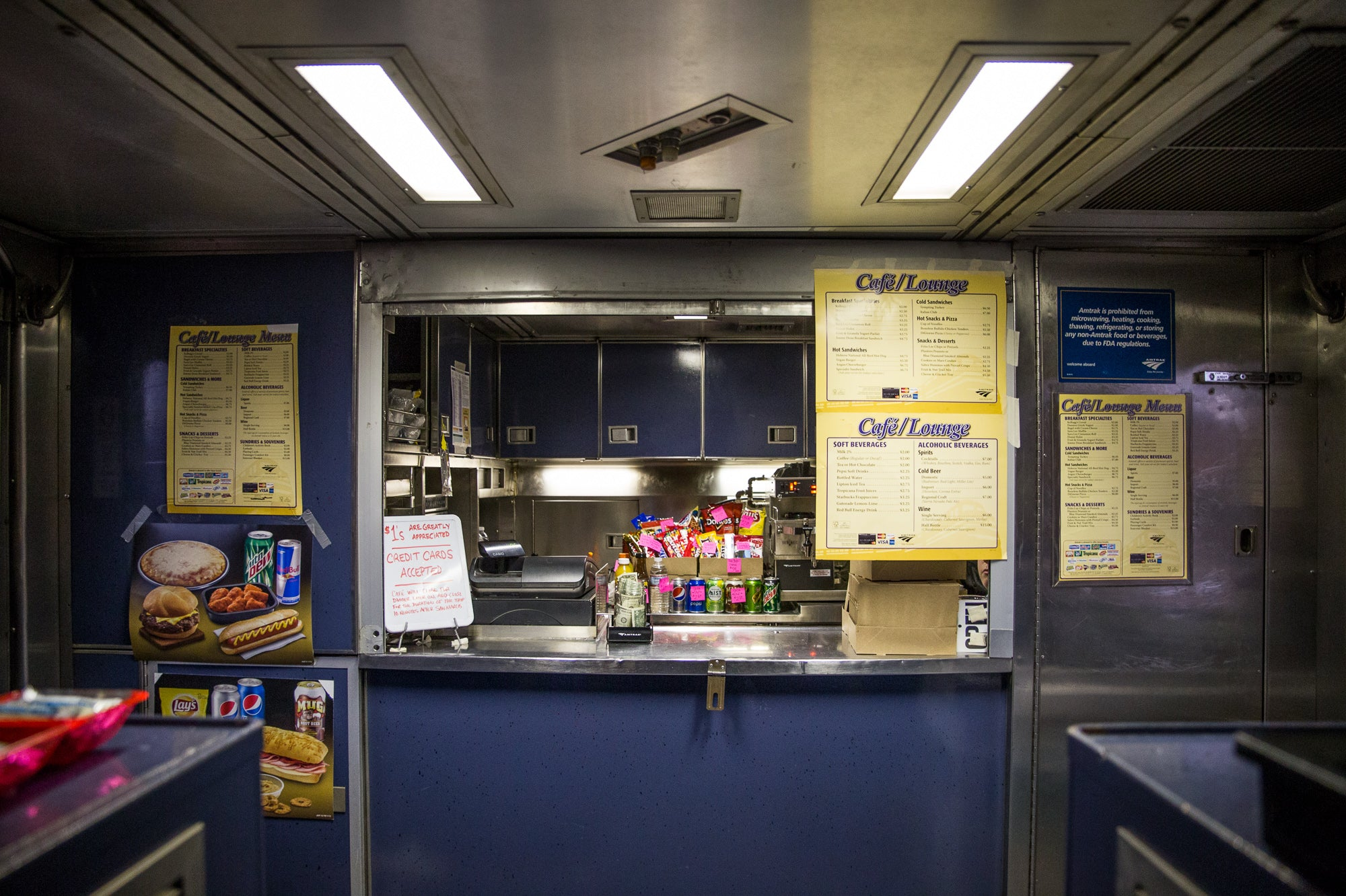 Snack Bar on the Amtrak