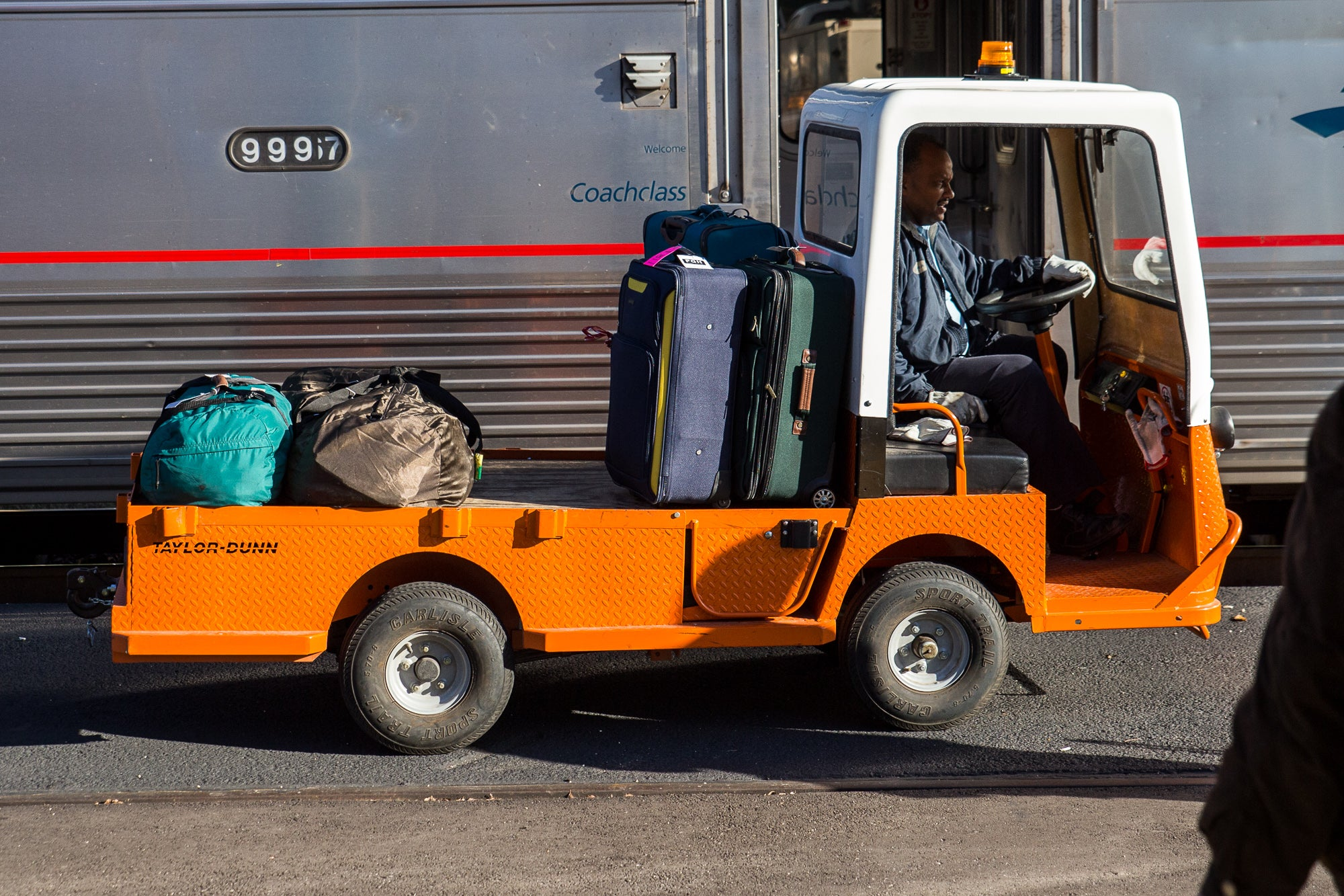 Luggage Being Loaded at the Austin Amtrak Station